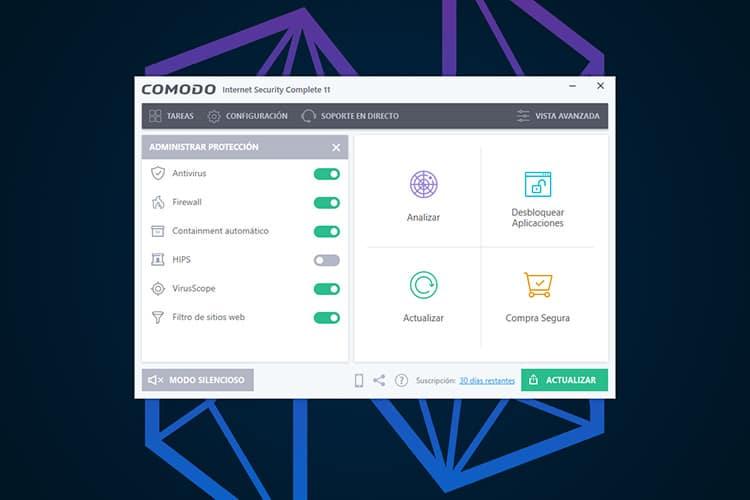 Mejores Antivirus de paga Comodo
