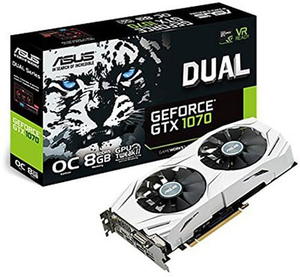 Mejores Placas gráficas NVIDIA GeForce GTX 1070