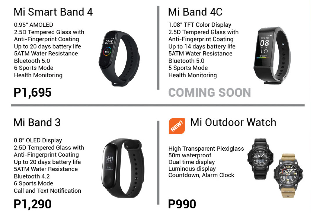 Mi Outdoor Watch aparece en catalogo