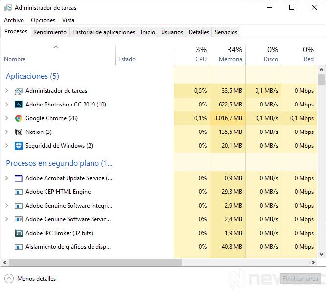 Mi portátil se calienta mucho Programas ejecutandose