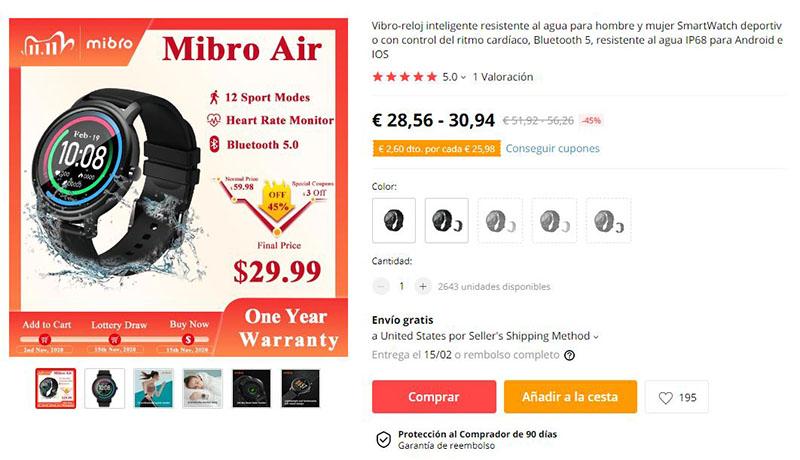 MiBro Air AliExpress