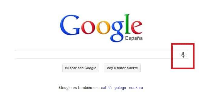 Microfono de google