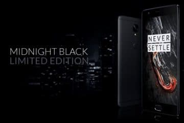 Midnight Black OnePlus 3t