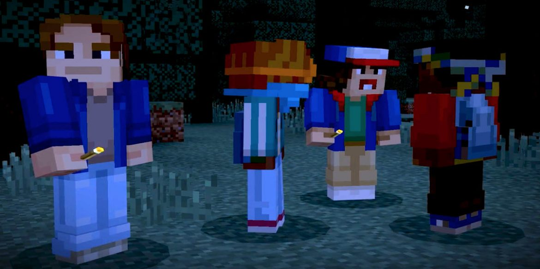 Minecraft Stranger Things Portada