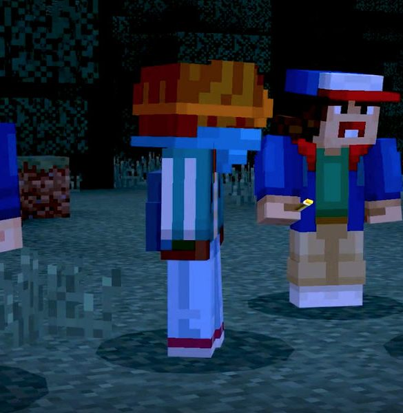 Minecraft Stranger Things Portada