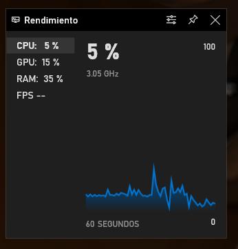 Modo Juego Windows 10 Rendimiento