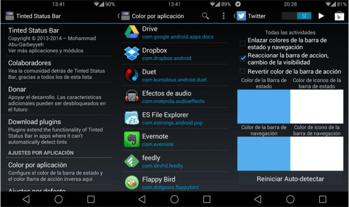 modulos-xposed-tinted-status-bar