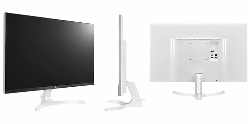 Monitor 4K barato LG 27UD69-W diseño