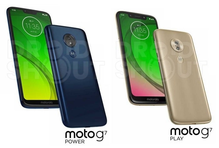 Moto G7 Power y Moto G7 Play renders