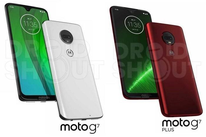 Moto G7 y Moto G7 Plus renders