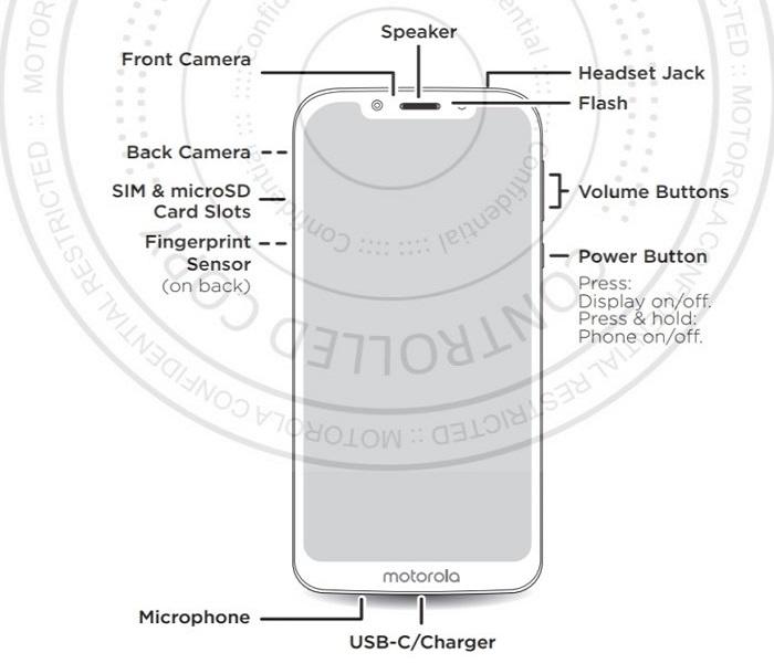 Motorola Moto G7 Play frontal filtrado