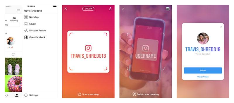 Nametag Instagram nueva función