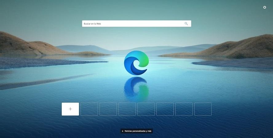 Navegador Microsoft Edge Inicio