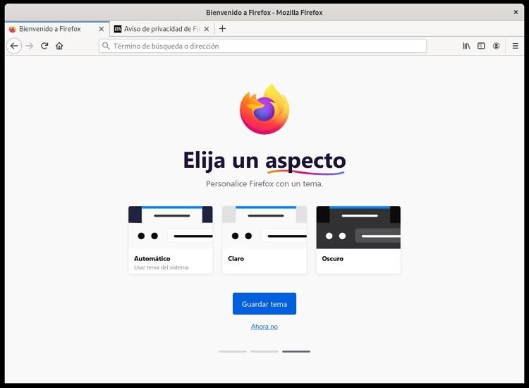 Navegador Mozilla Firefox Inicio