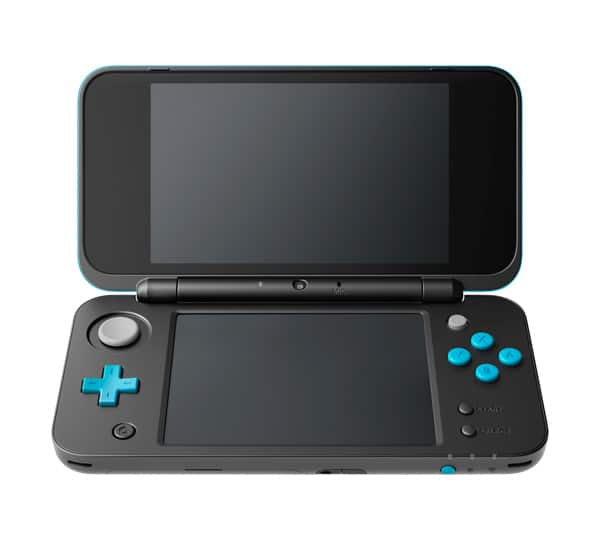 New Nintendo 2DS XL negra y azul