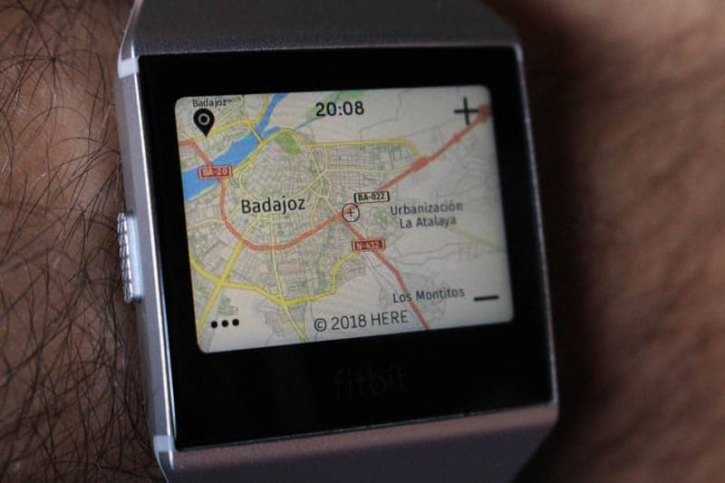 NewEsc Review Fitbit Ionic mapas