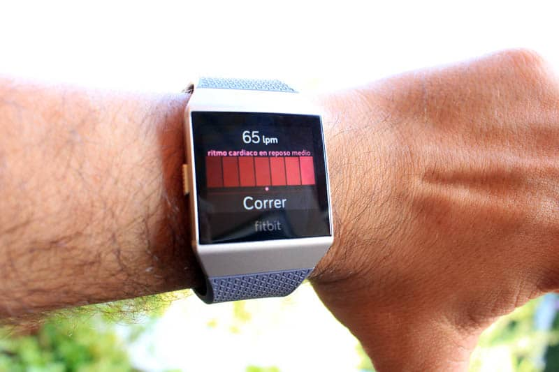 NewEsc Review Fitbit Ionic pulsaciones