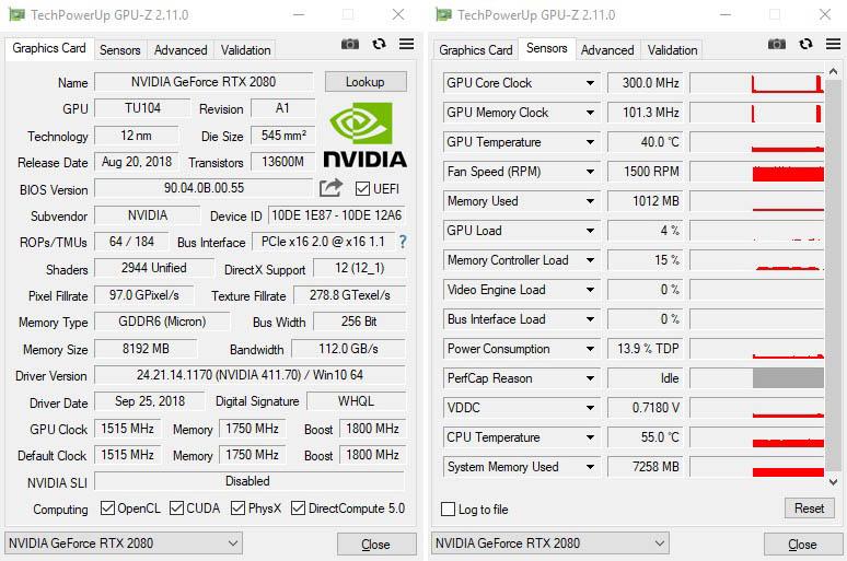 NewEsc Review Nvidia GeForce RTX 2080 GPU-Z