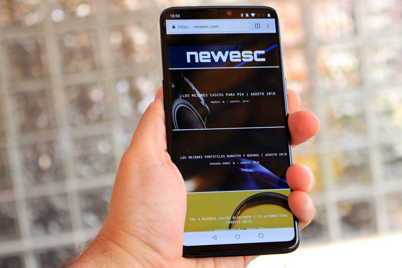 NewEsc Review OnePlus 6 general en mano
