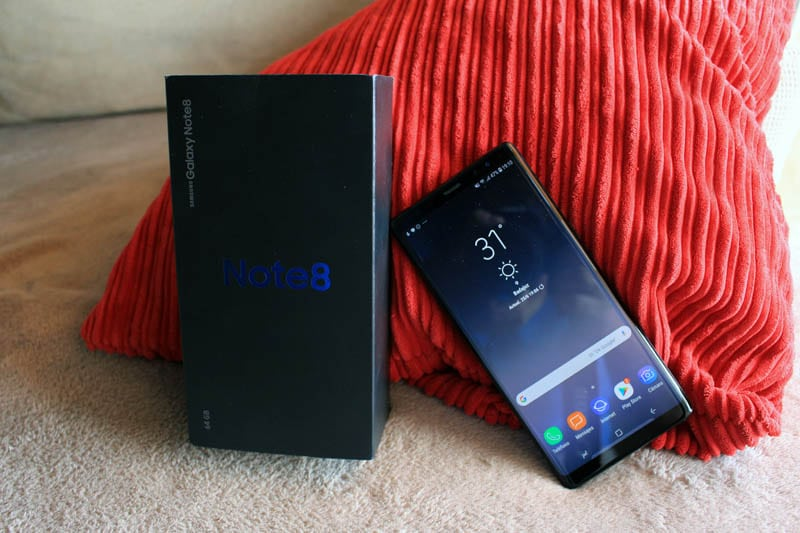 NewEsc Review Samsung Galaxy Note 8 con caja