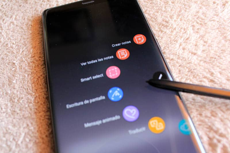 NewEsc Review Samsung Galaxy Note 8 menú S Pen