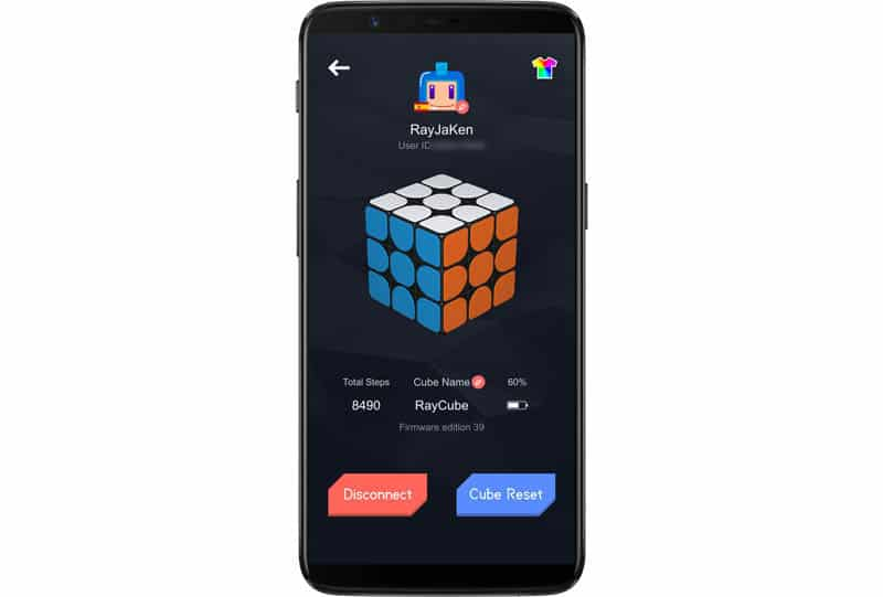 NewEsc Review Xiaomi Giiker Supercube i3S captura config