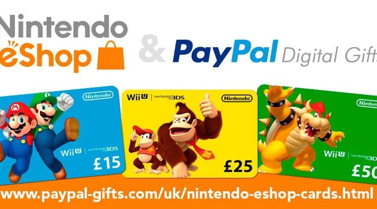 Nintendo paga con paypal