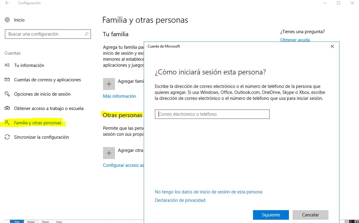 No funciona la barra de tareas en Windows 10 - Crear una nueva cuenta de usuario