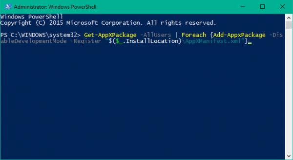 No funciona la barra de tareas en Windows 10 - Volver a registrar la barra de tareas