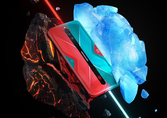 Nubia Red Magic 5G rojo y Azul