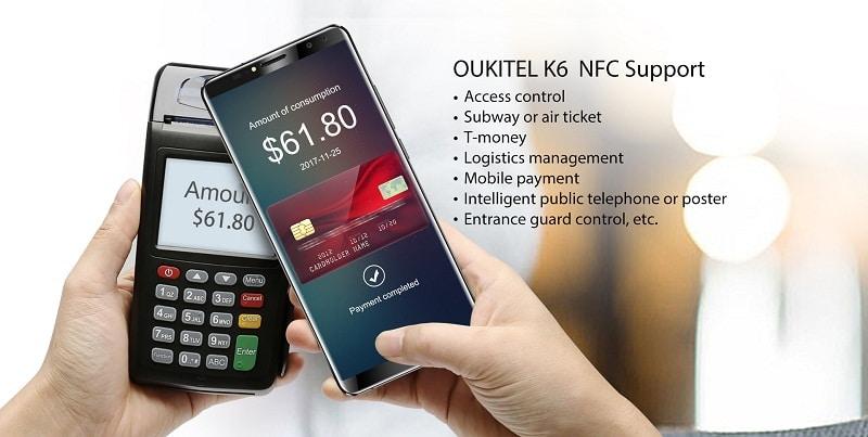 OUKITEL K6 NFC