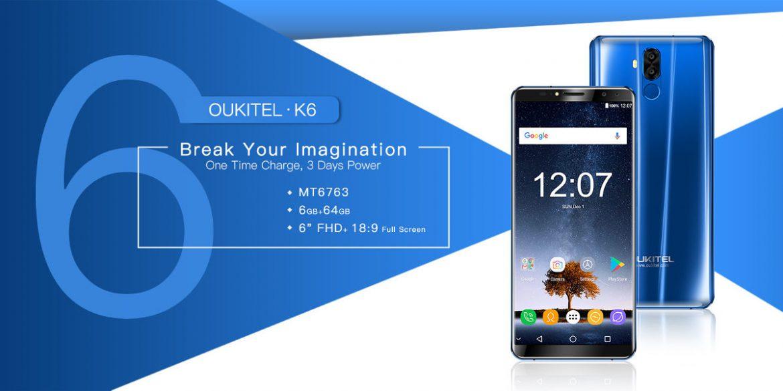 OUKITEL K6 portada lanzamiento