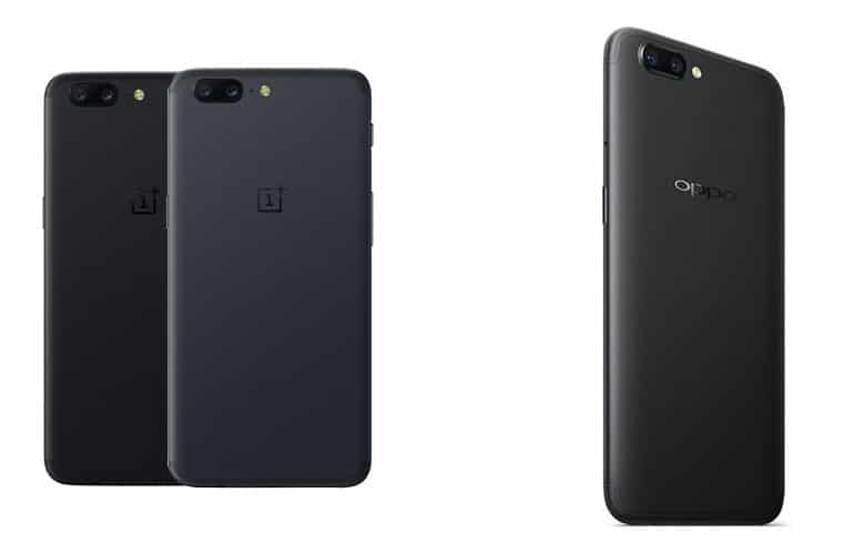OnePlus 5 y Oppo R11
