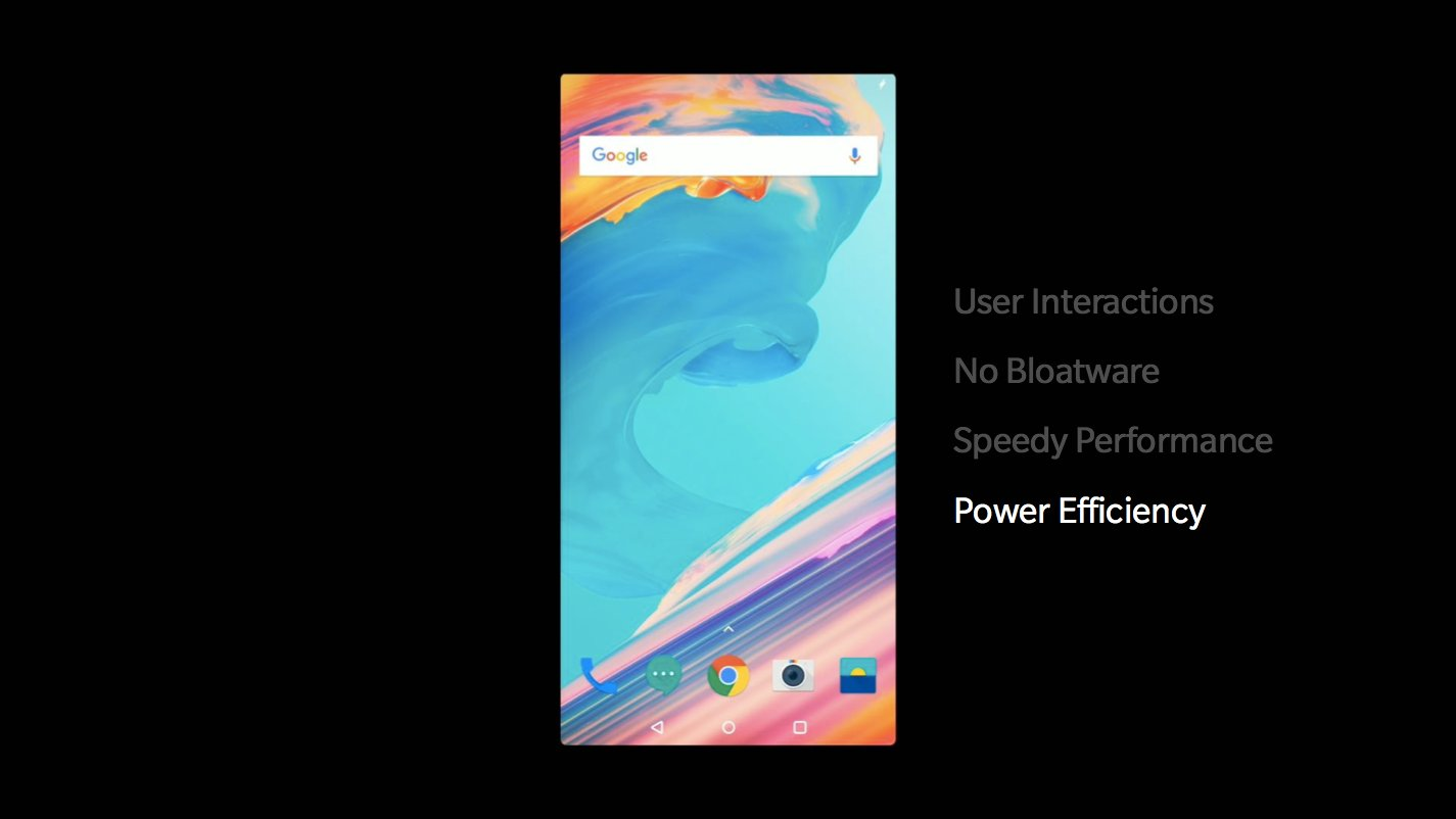 OnePlus 5T Oxygen OS pilares