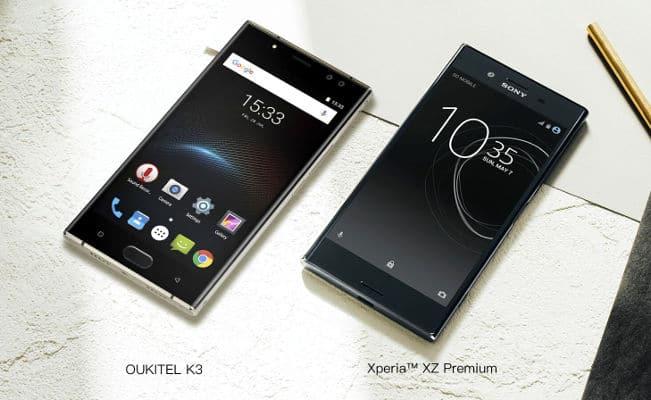 Oukitel K3 vs Sony Xperia XZ Premium Diseño