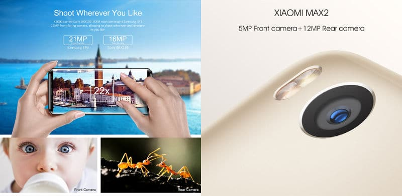 Oukitel K5000 vs Xiaomi Max 2 cámaras
