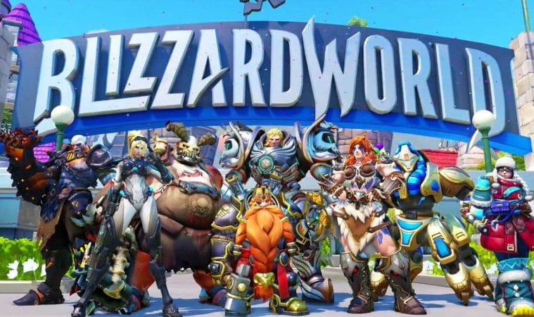 Overwatch Blizzard world map skins
