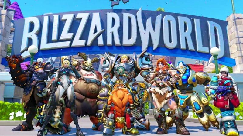 Overwatch Blizzard world map skins