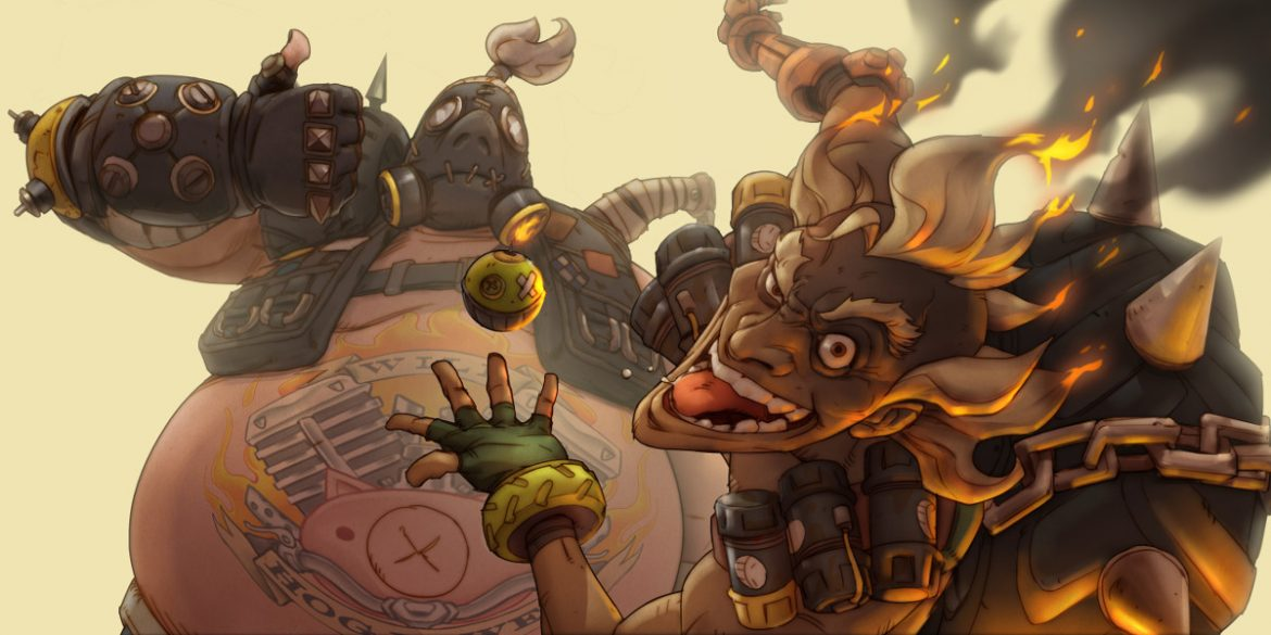 Overwatch Roadhog y Junkrat wallpaper