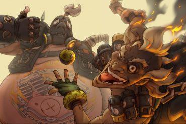 Overwatch Roadhog y Junkrat wallpaper