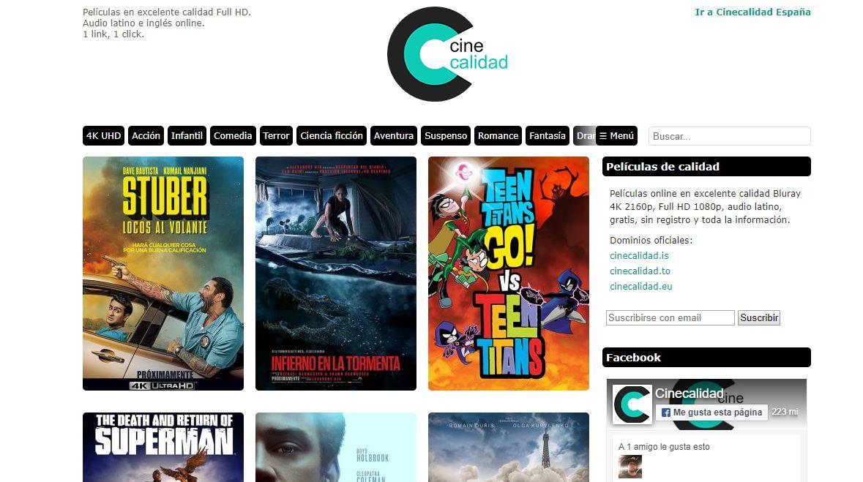 Páginas para ver Películas Online CineCalidad