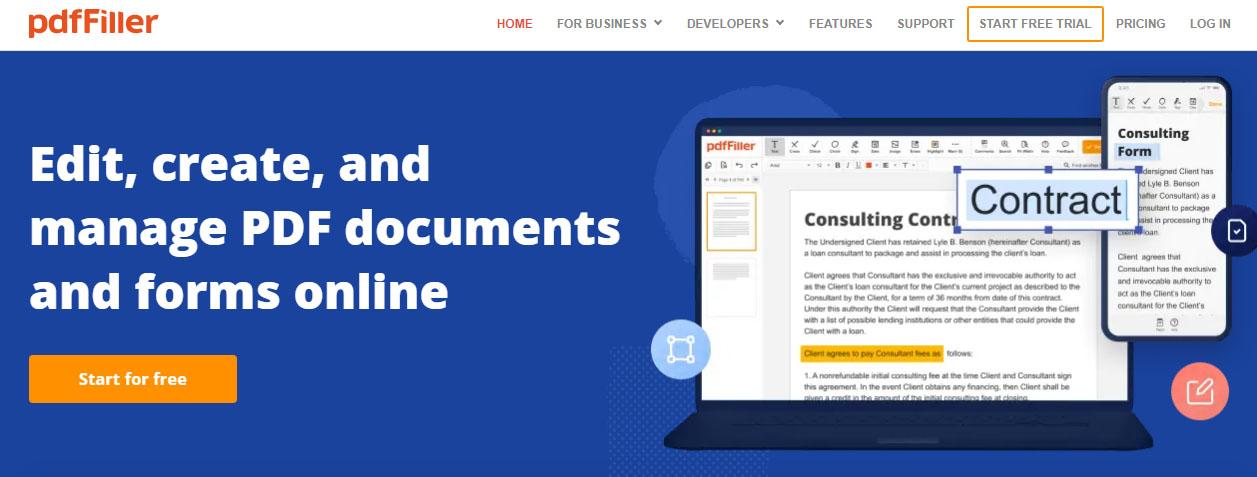 PDFfilier Editar PDF