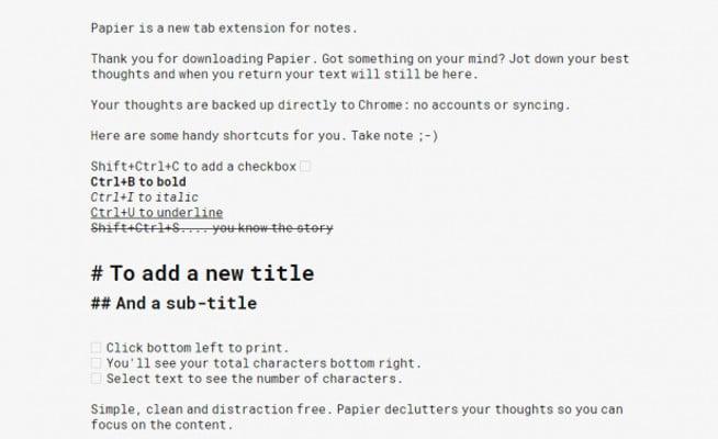 Papier Plugin para Chrome