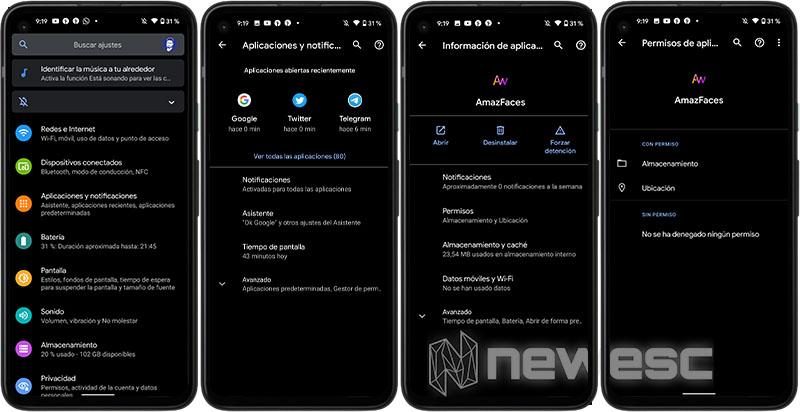 Permisos de Aplicaciones Android 10