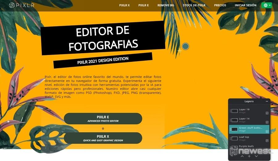 Pixlr Editor de imágenes para PC