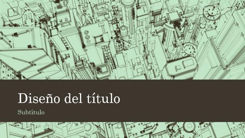Plantillas PowerPoint boceto de una ciudad
