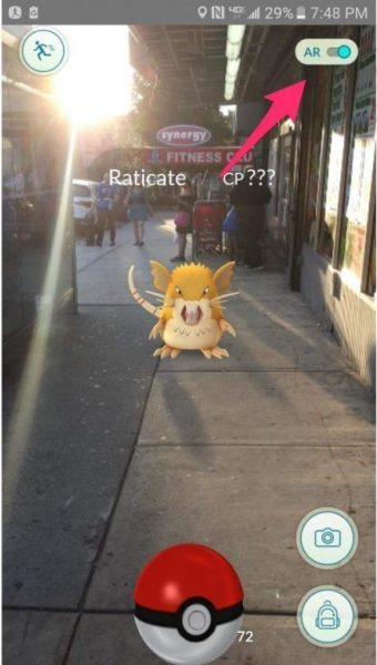 Pokémon GO AR