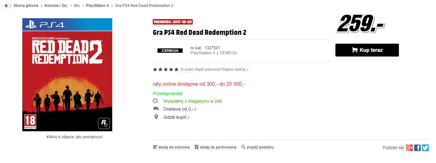 Polaco CD-Action lanzamiento red dead redemption 2