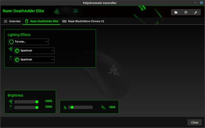 Polychromatic Razer Deathadder Elite