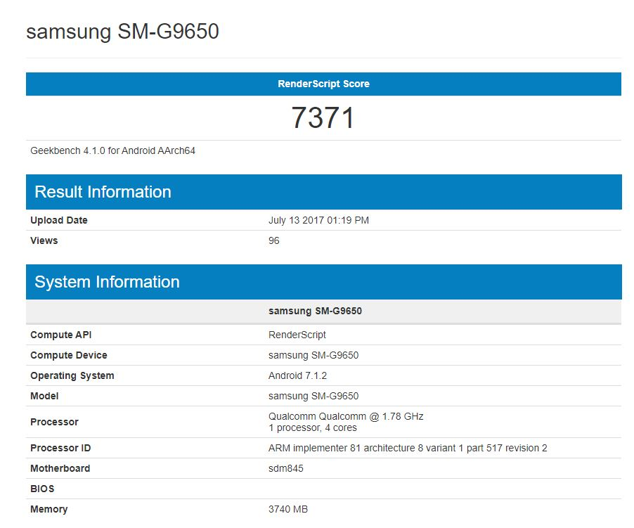 Posible Samsung Galaxy S9